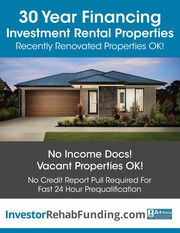 30 Year Rental Property Financing – Refi Cash Out Up To $2, 000, 000